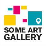 Social Media Art Gallery Logo in white