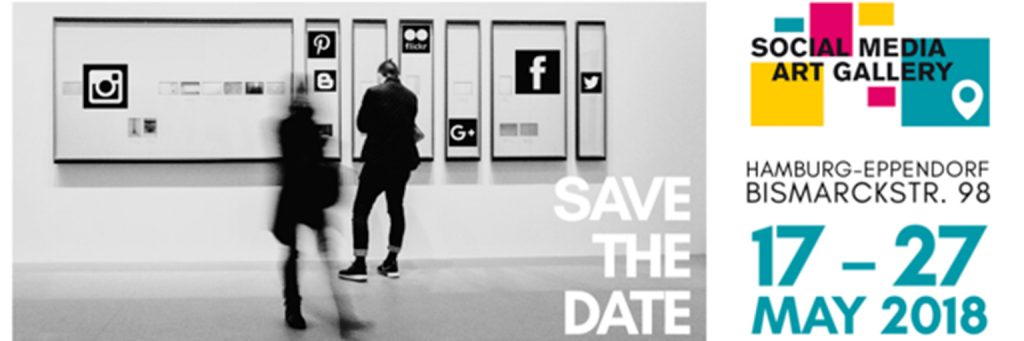 Save the date Header for Social Media Art Gallery