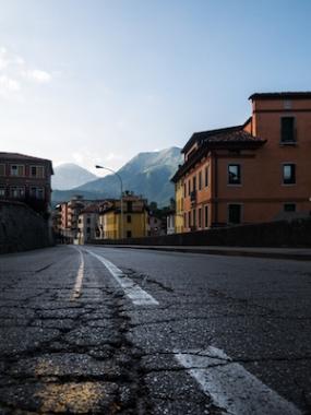 Street of Belluno Italia