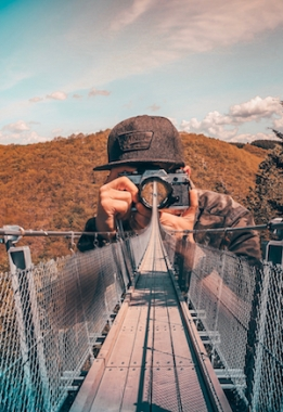 photo of bridge and photographer