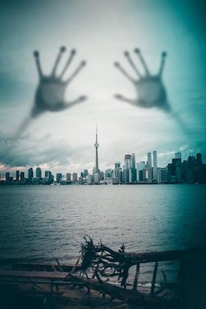 hands in toronto sky