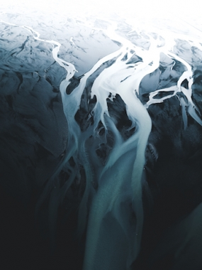 Abstract Glaciar river photo