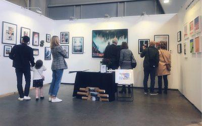 artfair booth of social media art gallery