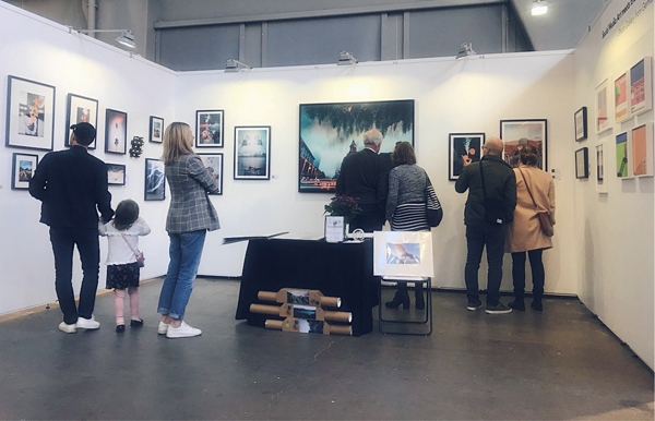 Affordable Art Fair Stockholm 2018 booth of Social Media Art Gallery