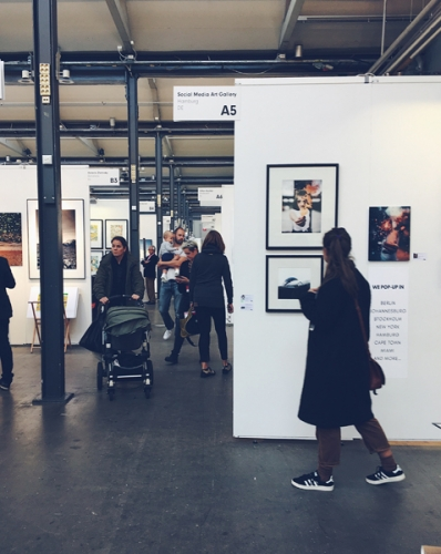 Affordable Art Fair Stockholm 2018 exhibition of Social Media Art Gallery