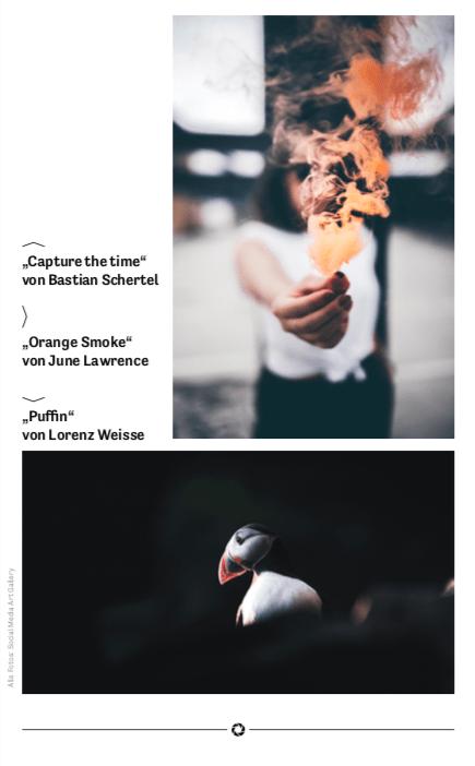 Anzeige Presse mit Bildern von June Lawrence und Lorenz Weisse