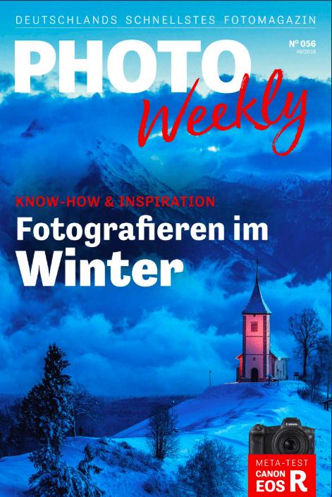Cover der PhotoWeekly mit Anzeige der Social Media Art Gallery in München