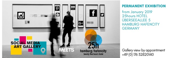 Cooperation Social Media Art Gallery and 25hours hotel exhibition