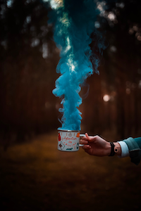 Smoke out of a cup Photography