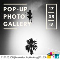 Flyer social media art gallery hamburg in may 2018
