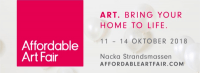 Affordable Art Fair Stockholm October 2018 and Social Media Art Gallery