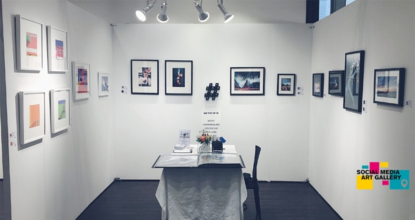 exhibition booth of social media art gallery at affordable art fair new york 2018
