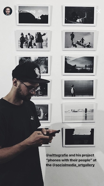 artist fabian witte with his photography at the social media art gallery