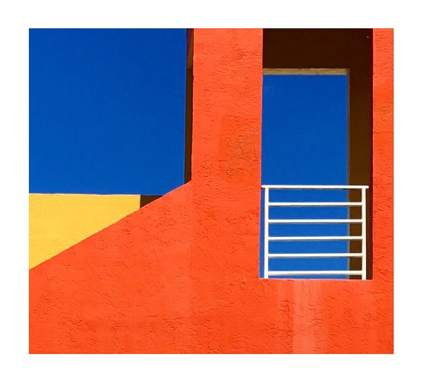 Orange blue yellow photograph by Rusty Wiles