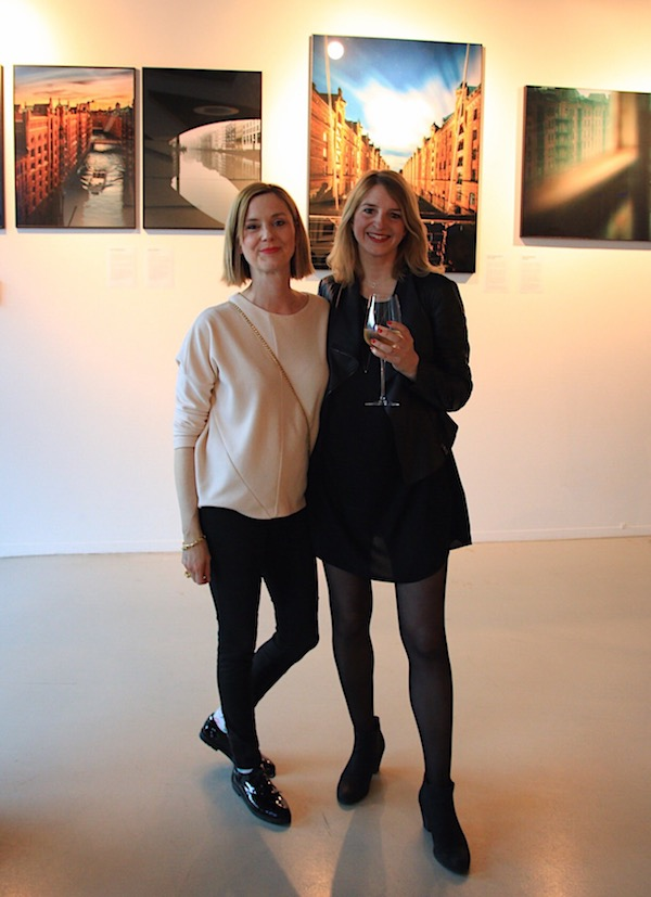 guest and Anna Stoffel at gallery event