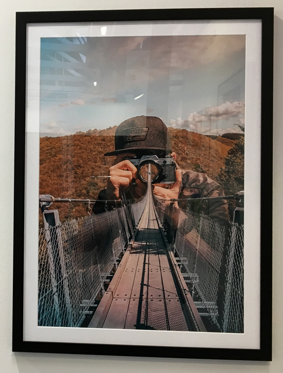 framed photo bridge view june lawrence