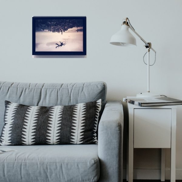 artwork on wall in living room